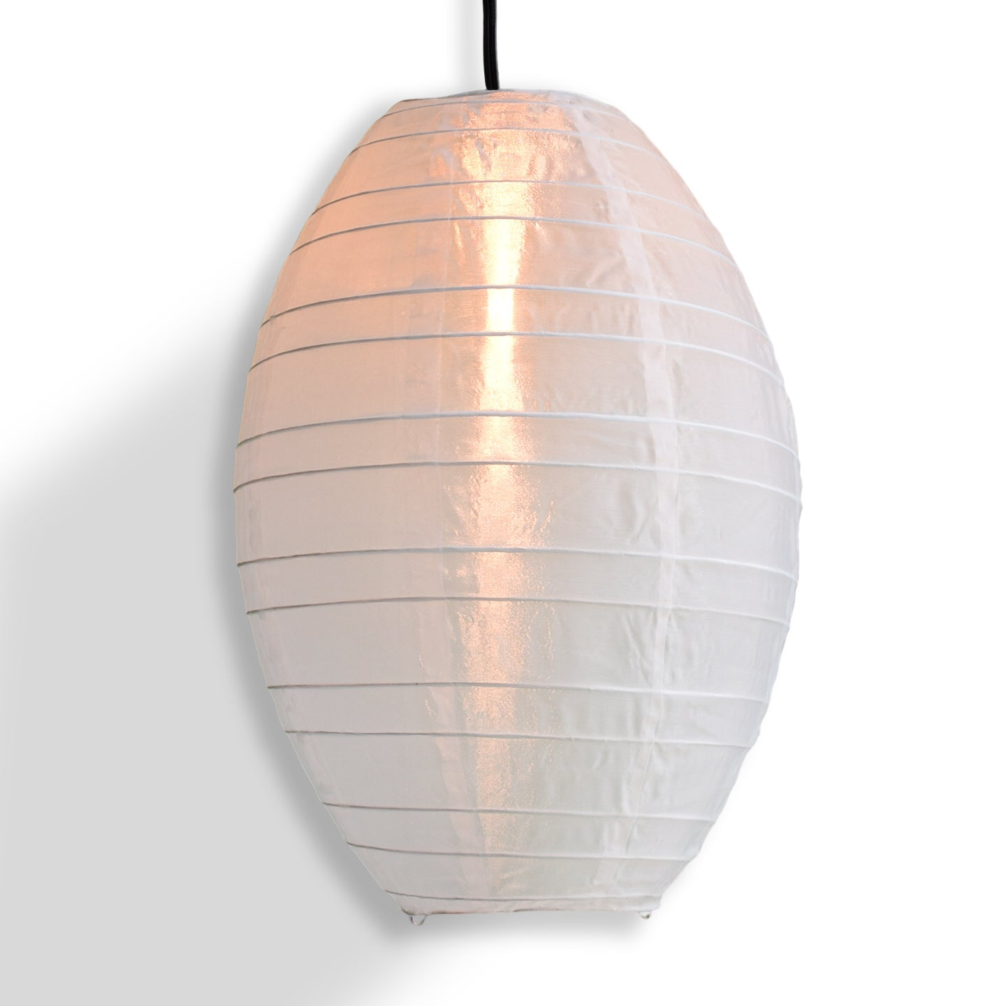 White Kawaii Unique Oval Egg Shaped Nylon Lantern, 10-inch x 14-inch - PaperLanternStore.com - Paper Lanterns, Decor, Party Lights & More