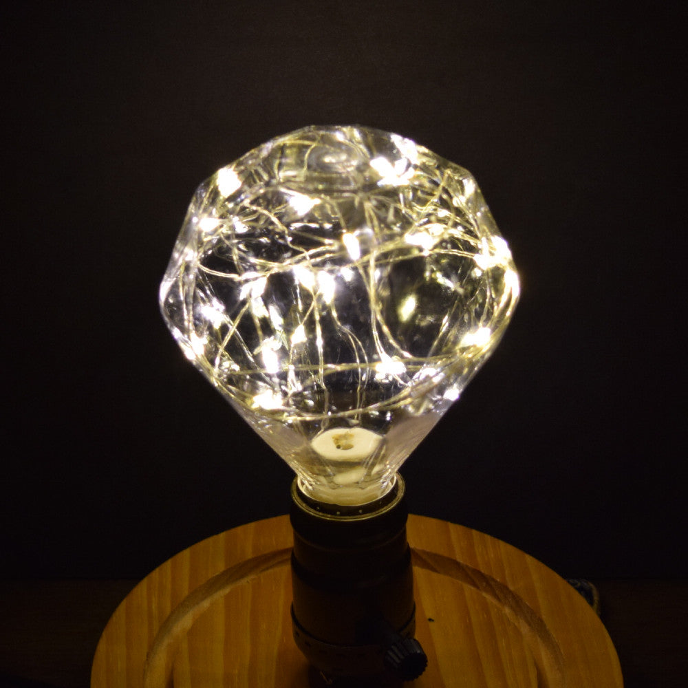 LED Fairy DM100 Diamond Edison Shatterproof Light Bulb, E26, 3W(25W Equivalent)
