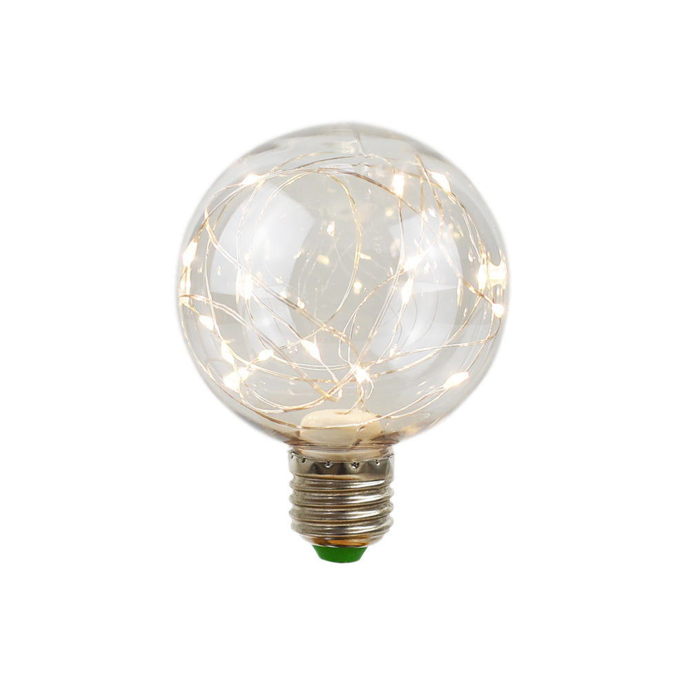 LED Fairy G80 Globe Edison Shatterproof Light Bulb, E26, 3W(25W Equivalent)