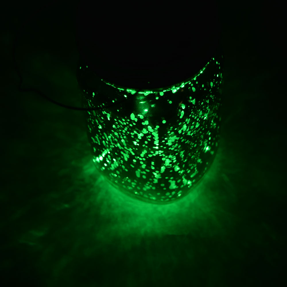 BLOWOUT MoonBright™ LED Mason Jar Lights, Battery Powered for Regular Mouth - Green (Lid Light Only)