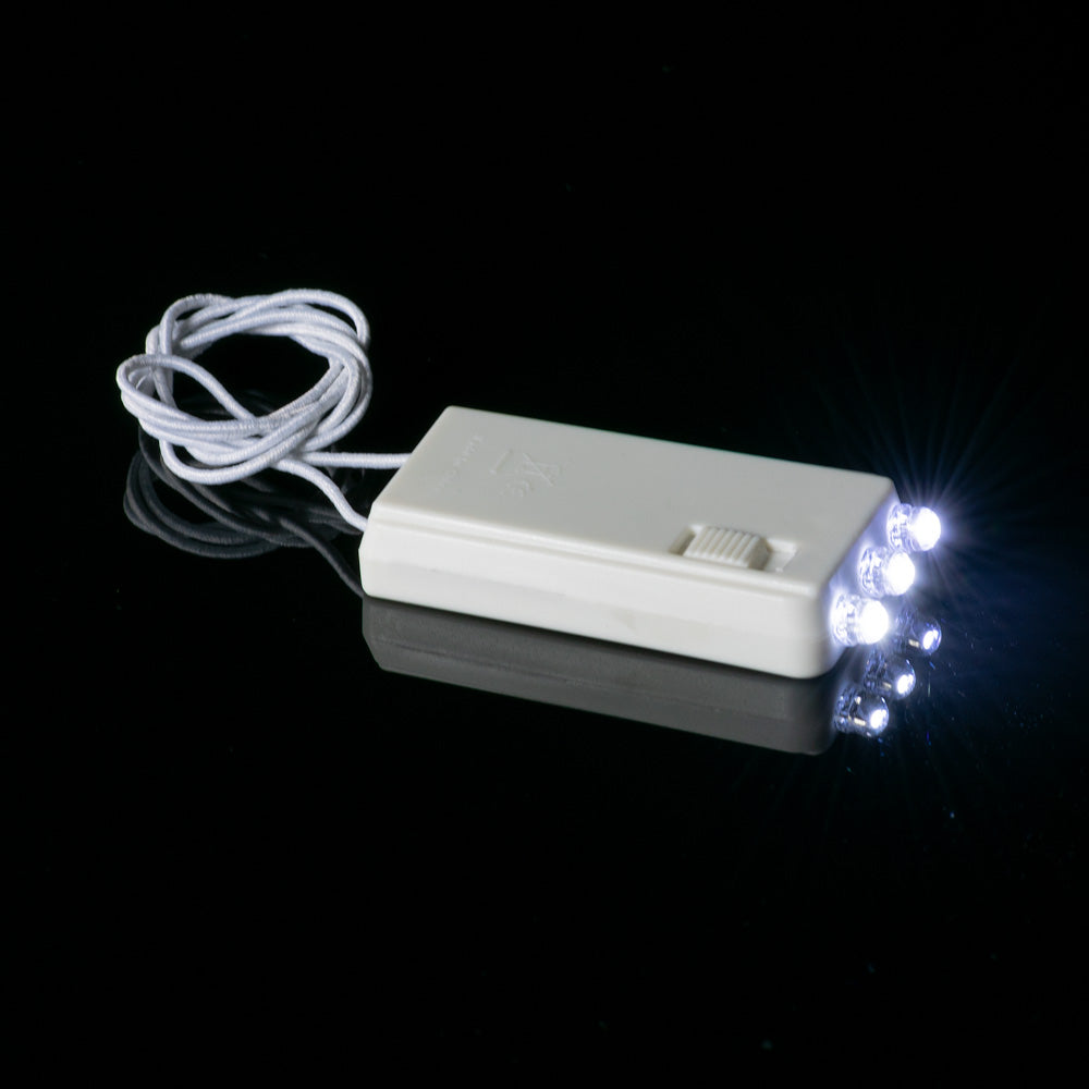 3-LED Hanging Battery Light For Lanterns, Cool White (Battery Powered)