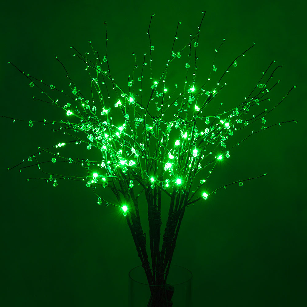 "BLOWOUT 32"" Green LED Light Up Branches, Floral Decoration (Battery Operated)"