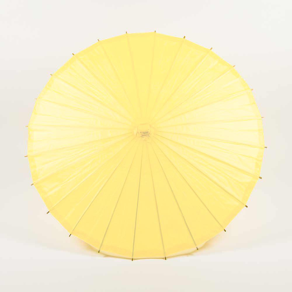 "32"" Lemon Yellow Chiffon Paper Parasol Umbrella - PaperLanternStore.com - Paper Lanterns, Decor, Party Lights & More"