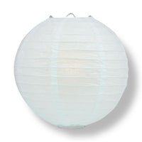 "6"" Arctic Spa Blue Round Paper Lantern, Even Ribbing, Chinese Hanging Wedding & Party Decoration"