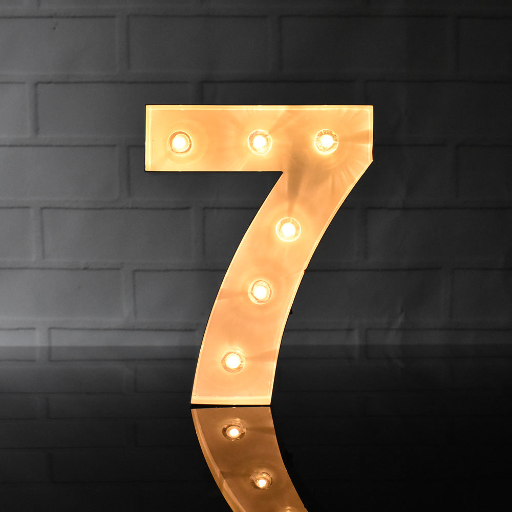 BLOWOUT Marquee Light Number '7' LED Metal Sign (8 Inch, Battery Operated)