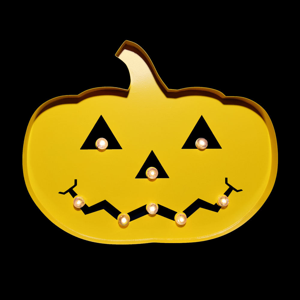 BLOWOUT Halloween Marquee Light Jack-O-Lantern 2 LED Metal Sign (Battery Operated)