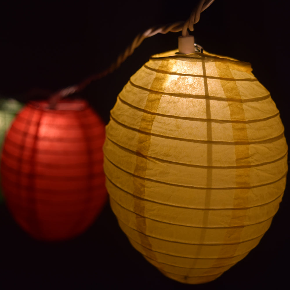 Multi-Color Kawaii Shaped Paper Lantern String String Lights (8FT, Expandable) (UL Listed)