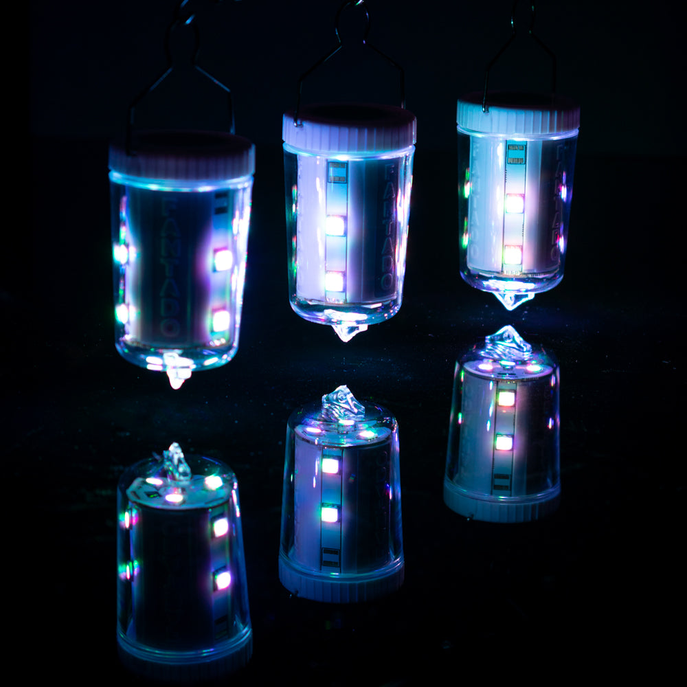 3-Pack Kit w/ Remote Control Color-Changing 9-LED Omni360 Omni-Directional Lantern Light, Hanging / Table Top (Battery Powered) - PaperLanternStore.com - Paper Lanterns, Decor, Party Lights & More