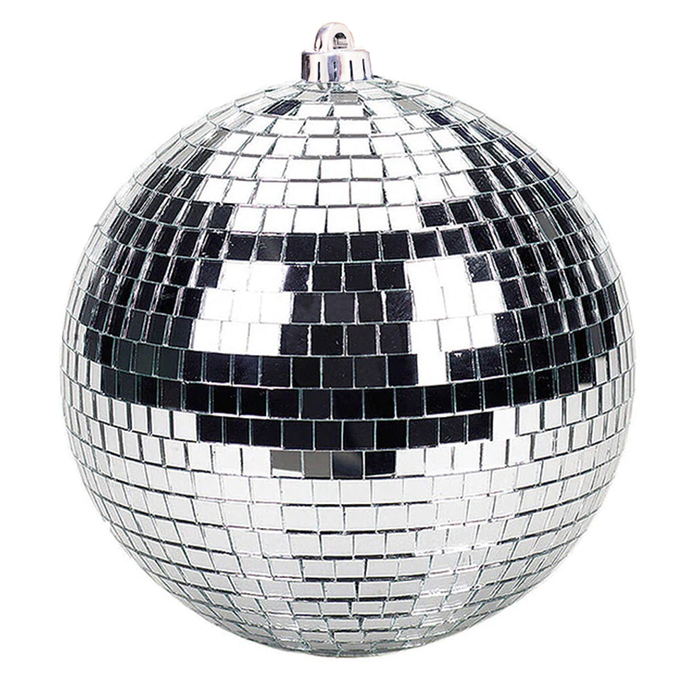 "BLOWOUT 8"" Silver Disco Mirror Ball for Dance Party"