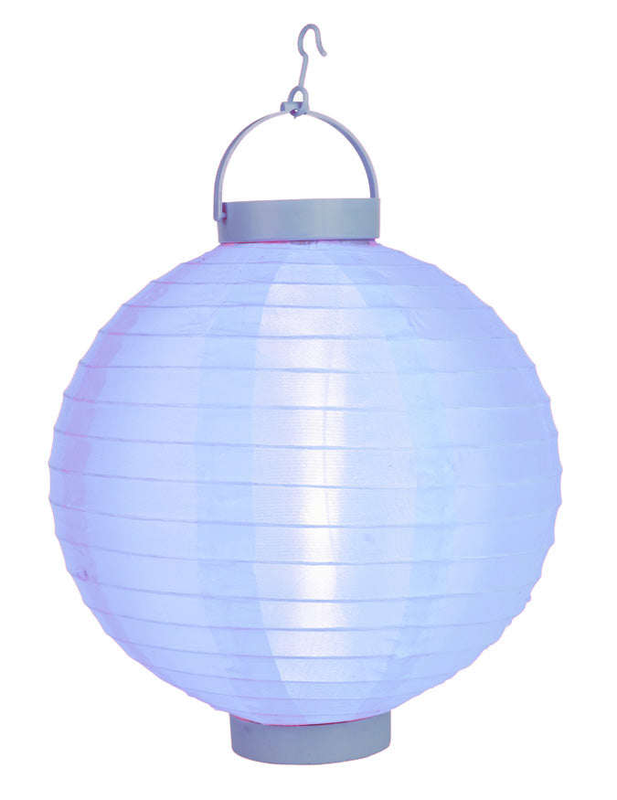 "BLOWOUT 14"" Serenity Blue 16 LED Round Battery Operated Shimmering Nylon Lantern"