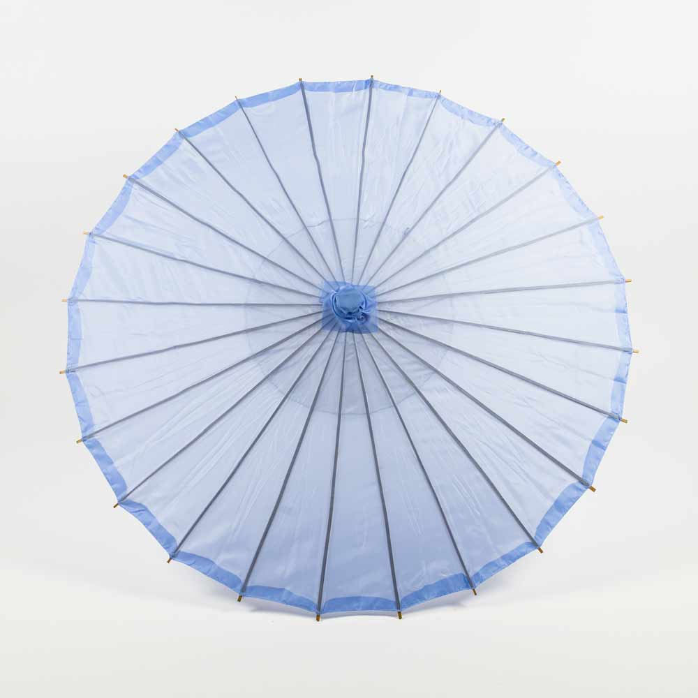 "BLOWOUT 28"" Serenity Blue Parasol Umbrella, Premium Nylon"