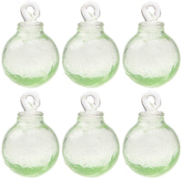 6 Pack|Light Green Cassandra Mini Recycled Glass Ball Ornament