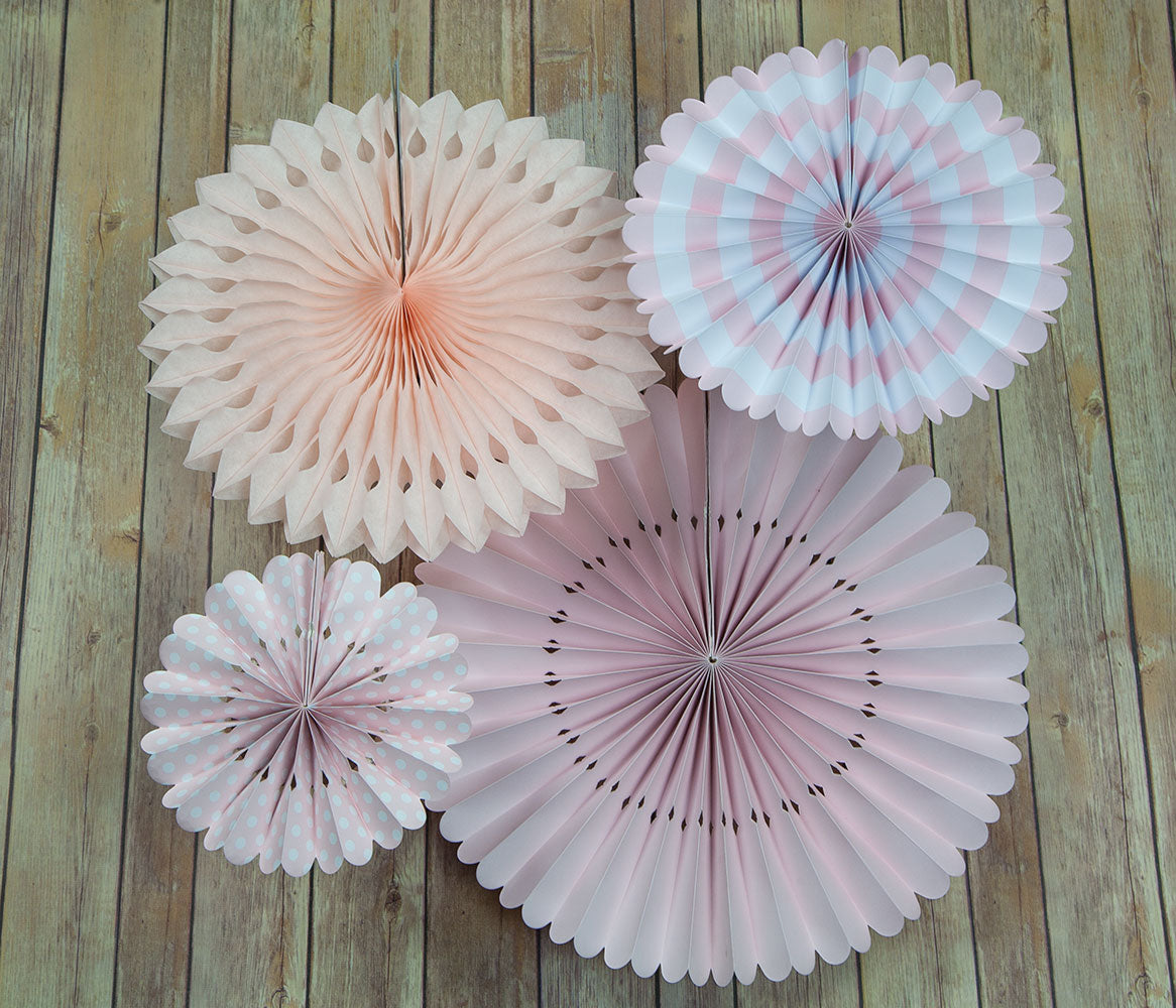 BLOWOUT Pink Rosette Paper Flower Backdrop Pinwheel Party Wall Decoration for Baby Showers, Bridal Showers, Birthday Parties or any celebration