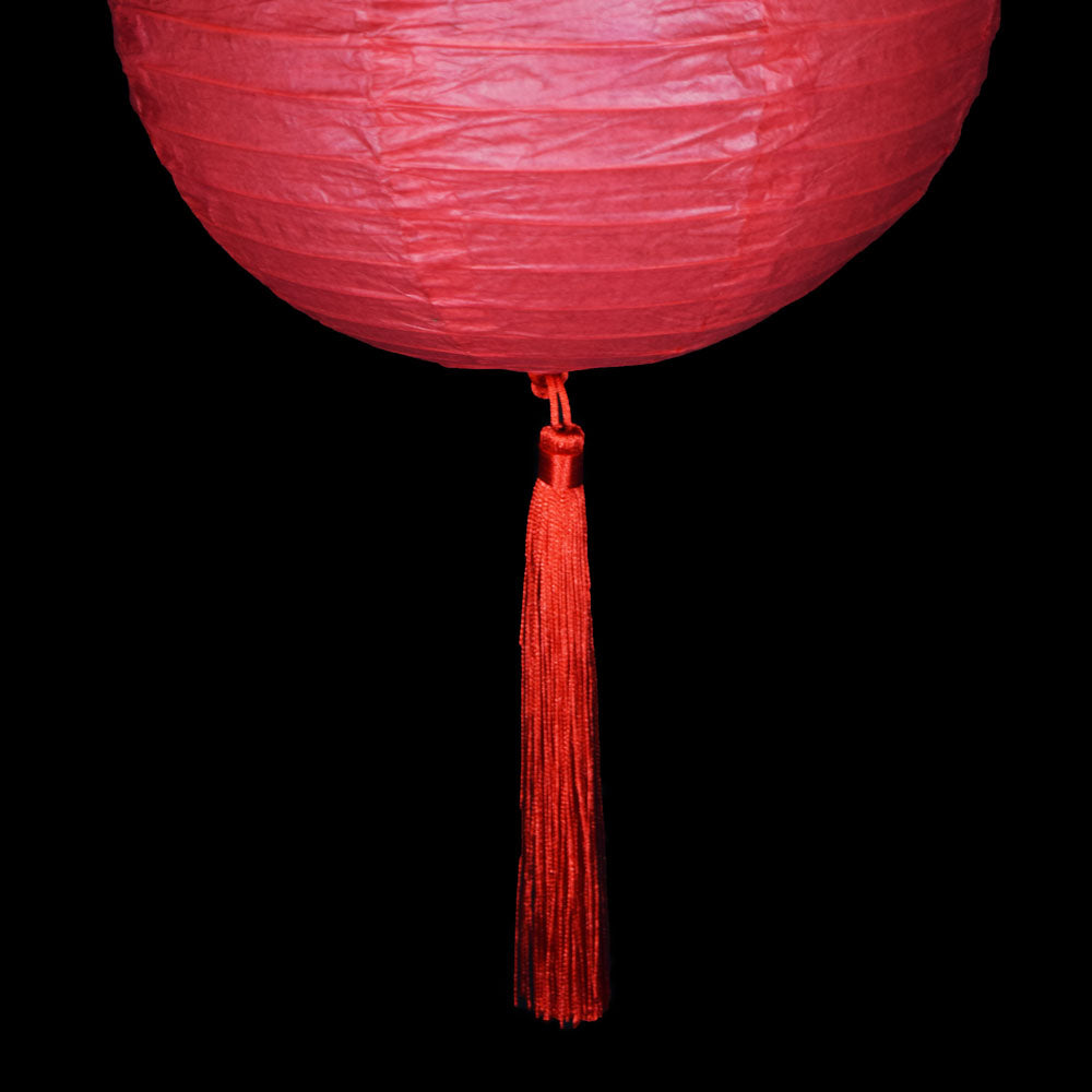 Red Tassel Hanging Ornament Accessory for Paper Lanterns (10 PACK)