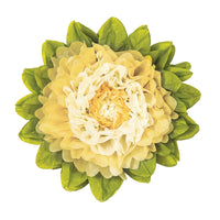 Medium Tissue Paper Flower (10-Inch, Ivory & Cream)