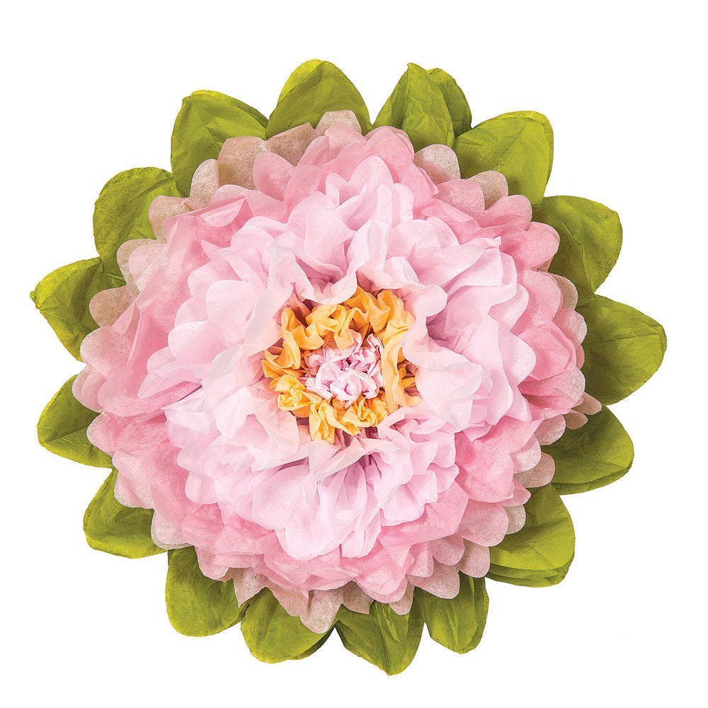 Large Tissue Paper Flower (15-Inch, Rose Quartz Pink & Pink)