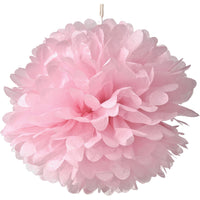 BLOWOUT Jumbo Tissue Paper Pom Pom (30-Inch, Pink, Single) - Hanging Paper Flower Ball Decor for Weddings, Bridal and Baby Showers, Nurseries, Parties