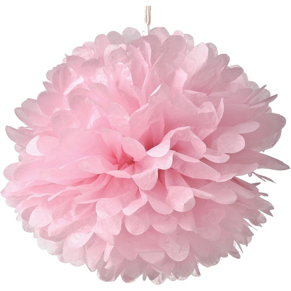 Jumbo Tissue Paper Pom Pom (30-Inch, Pink, Single) - Hanging Paper Flower Ball Decor for Weddings, Bridal and Baby Showers, Nurseries, Parties