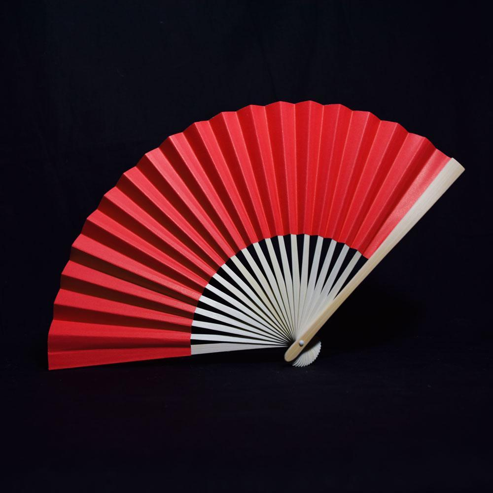 "9"" Red Premium Paper Hand Fans w/ Organza Bag (Combo 10 PACK) - PaperLanternStore.com - Paper Lanterns, Decor, Party Lights & More"