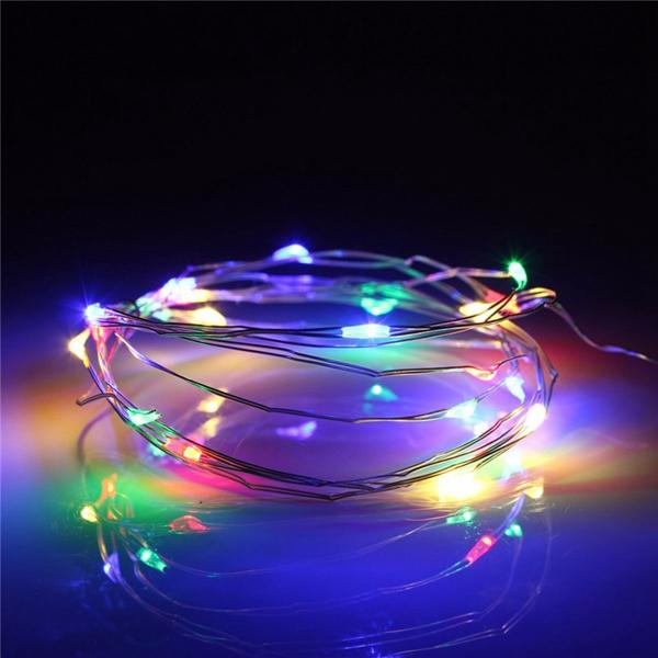 7.5 FT|20 LED Battery Operated Multi-Color Flashing Color-Changing Fairy String Lights - PaperLanternStore.com - Paper Lanterns, Decor, Party Lights & More