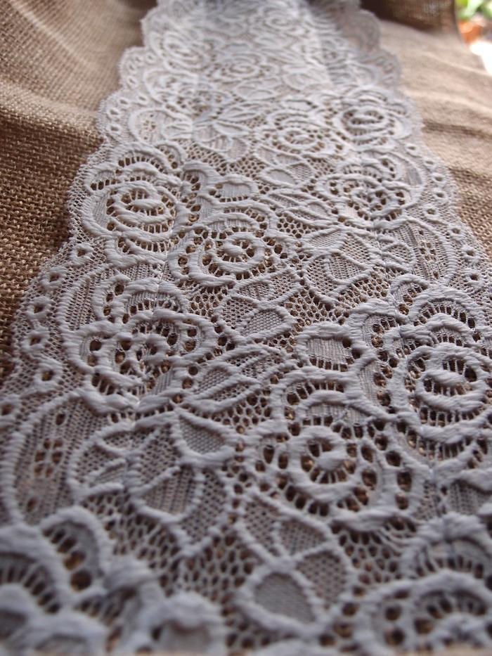 Vintage Burlap And Lace Style No 1 Table Runner 12 X 108 On Sale Now Chinese Lanterns Paperlanternstore Com Cheap At Bulk Wholesale Best Prices