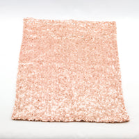 BLOWOUT Copper Rose Gold Sequin Rectangular Table Placemat (12 x 17 Inches)