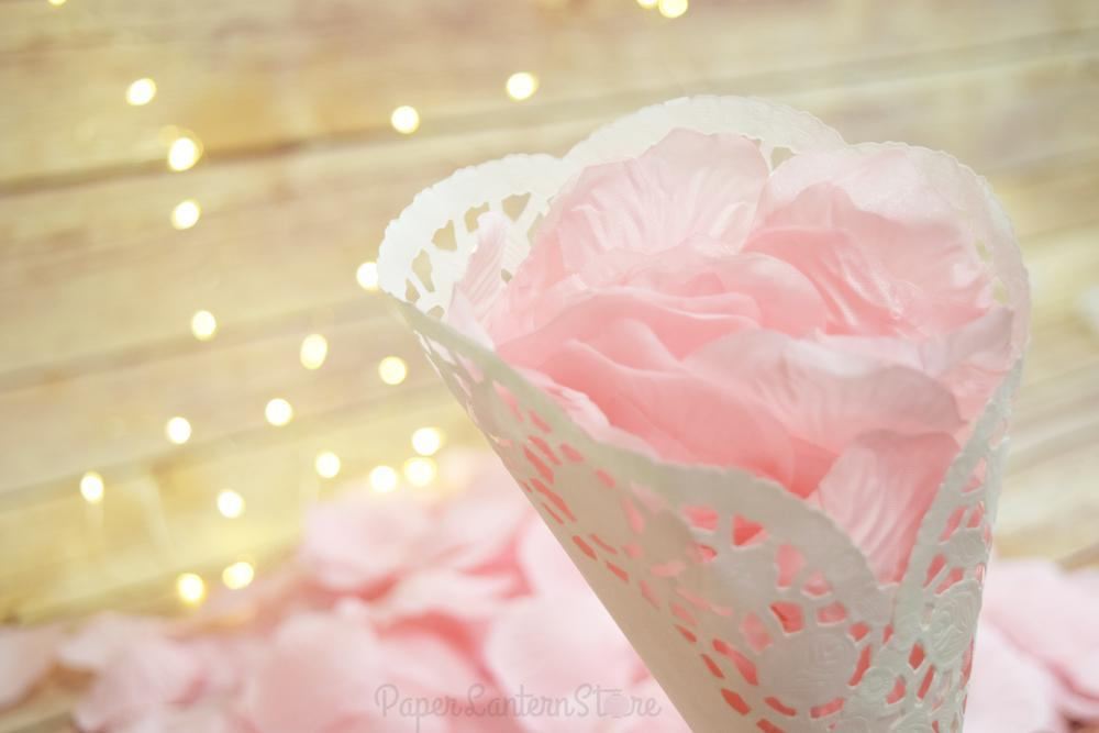 BLOWOUT Pink Silk Rose Petals Confetti for Weddings in Bulk - PaperLanternStore.com - Paper Lanterns, Decor, Party Lights & More
