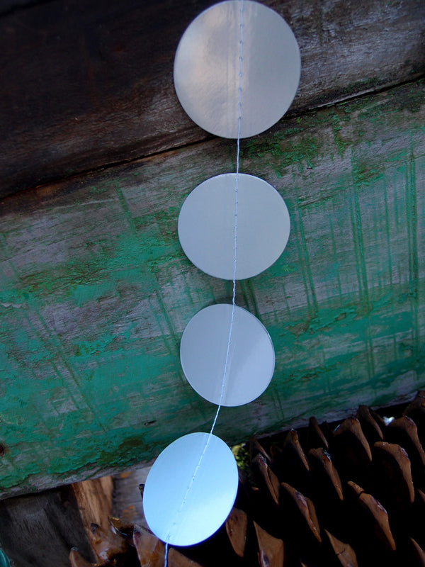 BLOWOUT Silver Paper Circle Garland