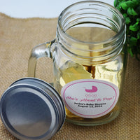 Case of 48 | Small Mason Jar Mug w/ Handle, Lid (1 Pint / 16 oz) - Great for Crafting and Favors