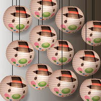 "12 PACK | 14"" Frosty Snowman Christmas Holiday Paper Lantern - PaperLanternStore.com - Paper Lanterns, Decor, Party Lights & More"