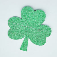 BLOWOUT St. Patrick's Day Glitter Gold and Green Shamrock Garland Banner (9.5FT)