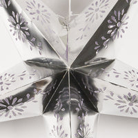 "44"" Extra Large Silver Foil Paper Star Lantern, Hanging"