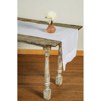 BLOWOUT White Table Runner- (16 Inches x 7.5 Feet, 100% Cotton)