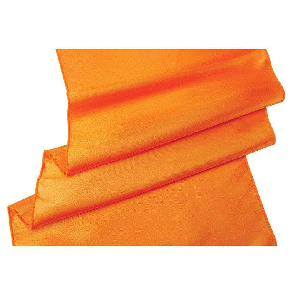 Mango Orange Taffeta Table Runner- (14 Inches x 9 Feet)