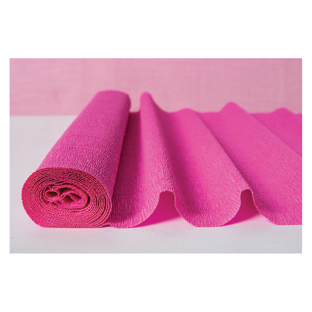 Fuchsia Pink Premium Heavy Italian Crepe Paper Roll and Table Runner, 20 Inches x 8 Feet - PaperLanternStore.com - Paper Lanterns, Decor, Party Lights & More