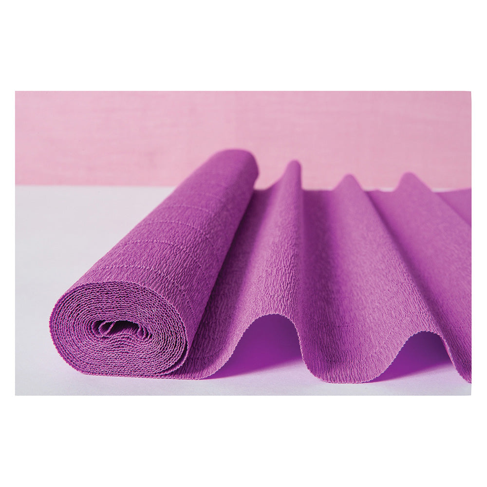Orchid Purple Premium Heavy Italian Crepe Paper Roll and Table Runner, 20 Inches x 8 Feet