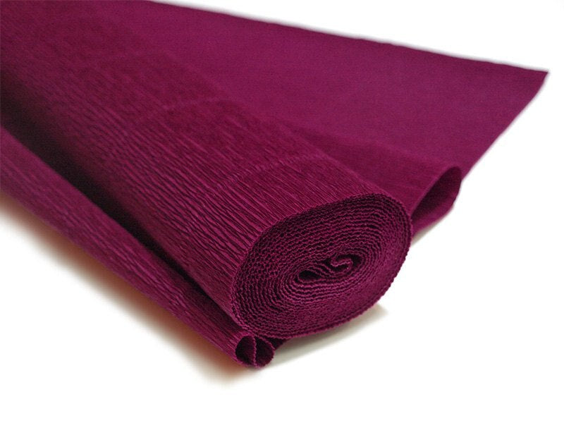 Red Violet Premium Heavy Italian Crepe Paper Roll and Table Runner, 20 Inches x 8 Feet - PaperLanternStore.com - Paper Lanterns, Decor, Party Lights & More