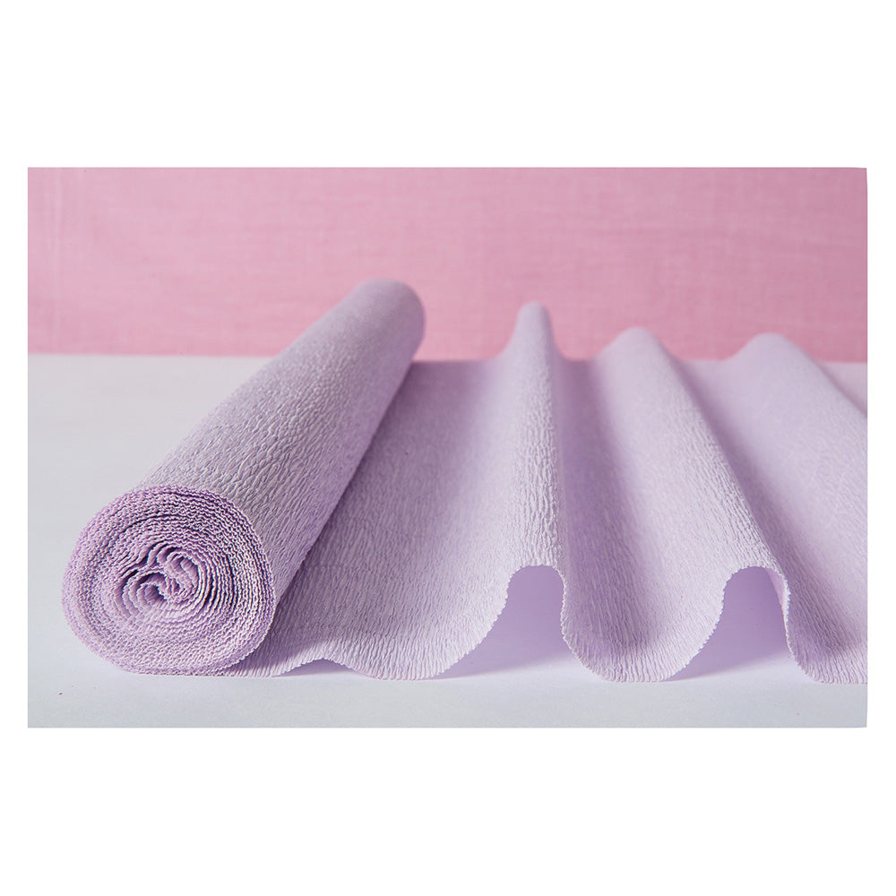 BLOWOUT Wisteria Purple Premium Heavy Italian Crepe Paper Roll and Table Runner, 20 Inches x 8 Feet