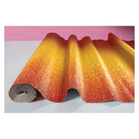 Ombre Gilt-Copper Premium Heavy Italian Crepe Paper Roll and Table Runner, 20 Inches x 8 Feet