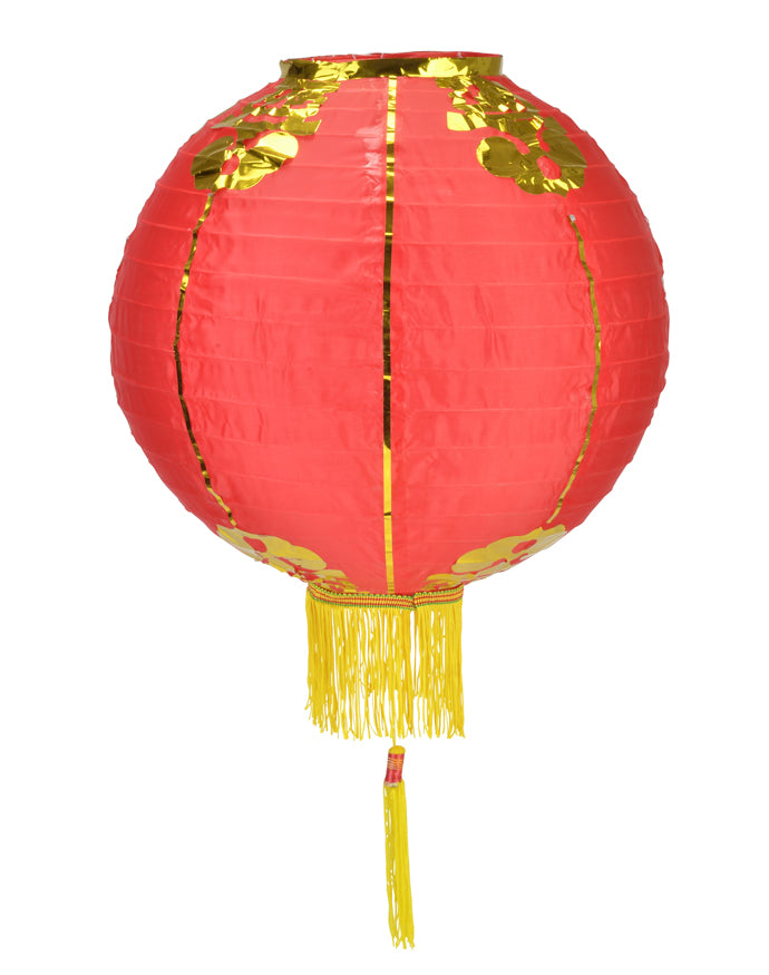 "30"" Jumbo Red Traditional Nylon Chinese Lantern with Tassel"