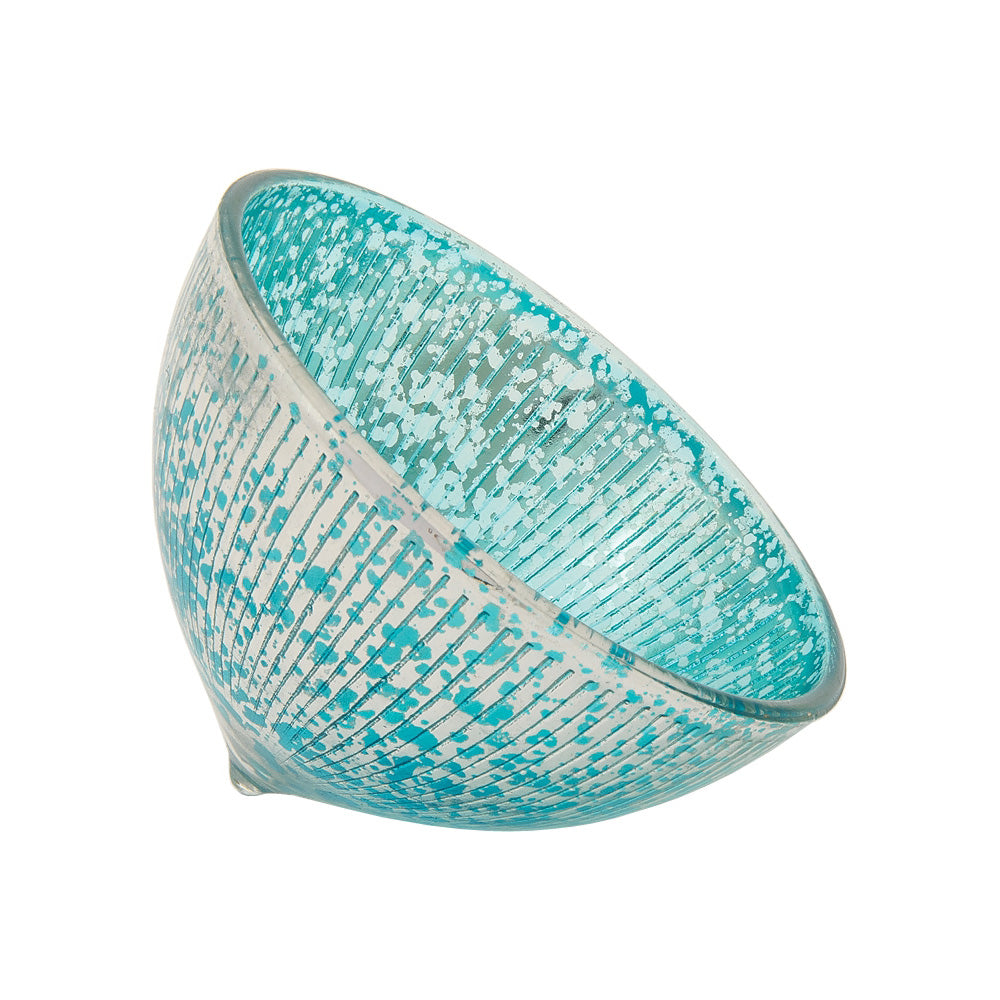 "Floating Mercury Glass Candle Holder (2.75"" Bryn Design, Turquoise Blue) - For Use with Tea Lights - PaperLanternStore.com - Paper Lanterns, Decor, Party Lights & More"