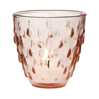 BLOWOUT Vintage Glass Candle Holder (3.25-Inch, Small Deborah Design, Vintage Pink) - For Use with Tea Lights - Home Decor, Parties, and Wedding Decorations