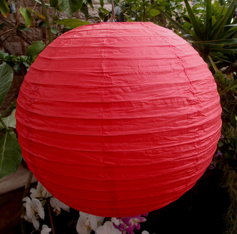 "8"" Valentine's Day Red Paper Lantern String Light COMBO Kit (12 FT, EXPANDABLE, White) - PaperLanternStore.com - Paper Lanterns, Decor, Party Lights & More"