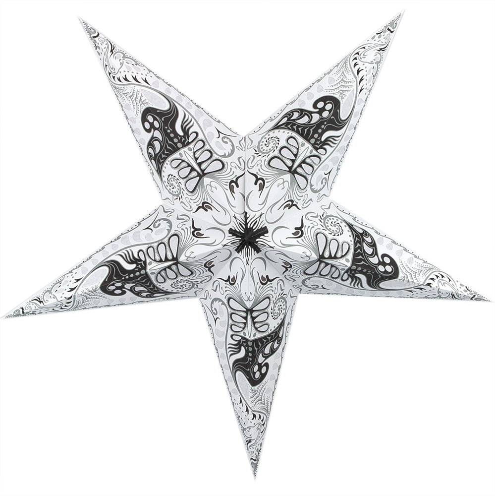 "BLOWOUT 24"" White Swan Paper Star Lantern, Hanging Decoration"