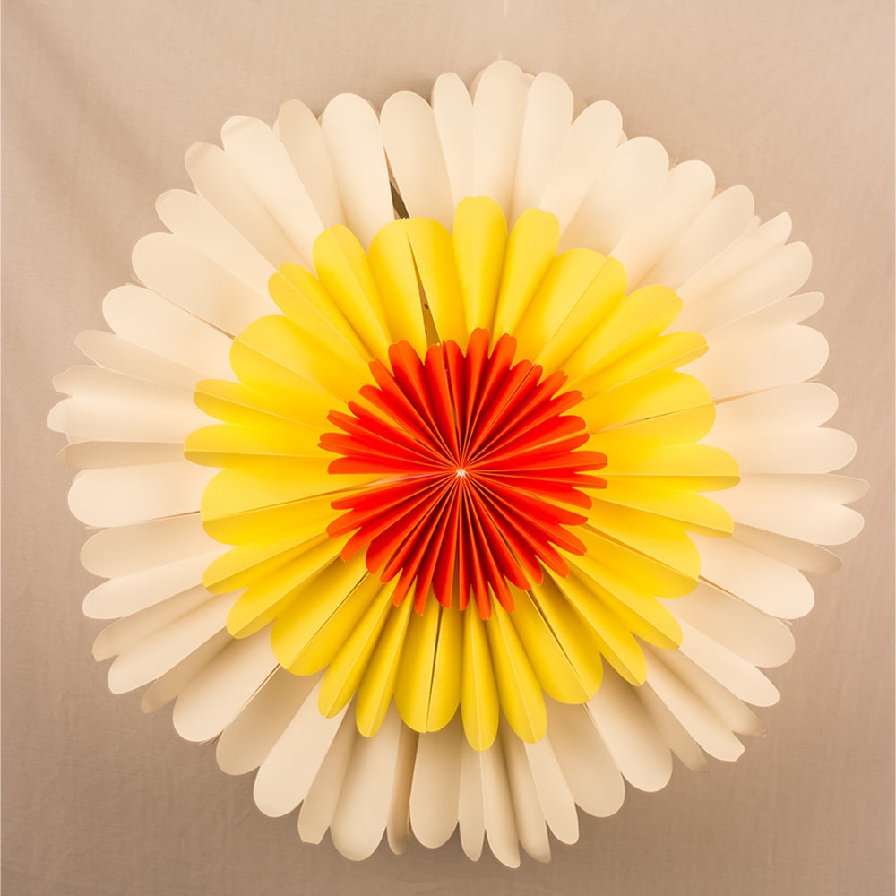 "19"" Yellow / Ora Sunflower Premium Handcrafted Paper Flower Lantern Light Decoration - PaperLanternStore.com - Paper Lanterns, Decor, Party Lights & More"
