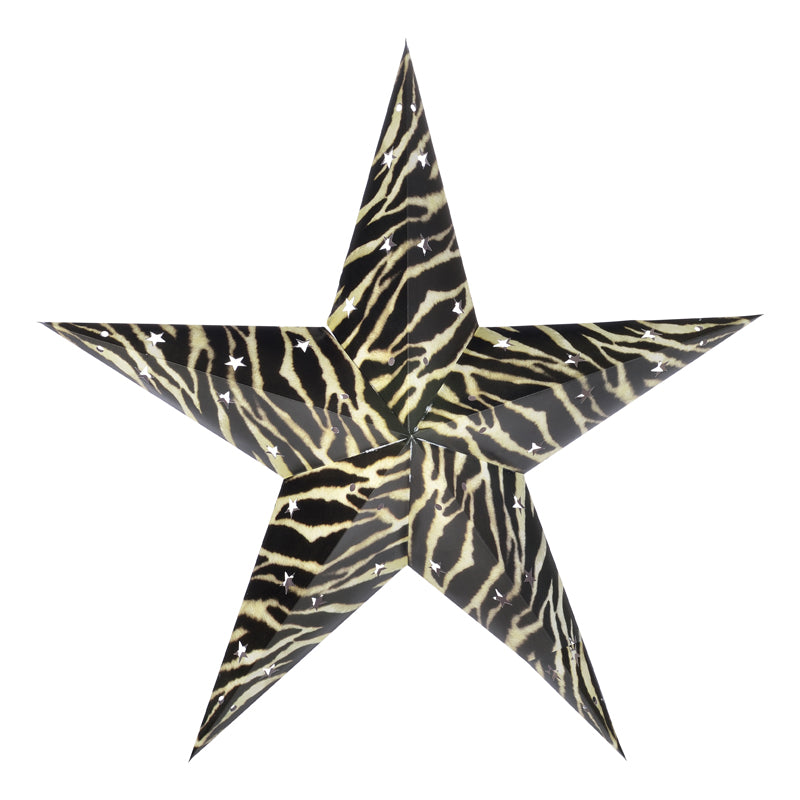 "BLOWOUT 24"" Zebra Paper Star Lantern, Hanging Decoration"