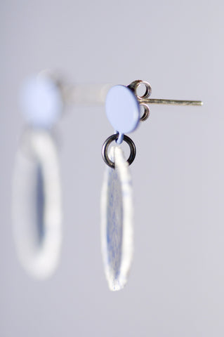 Dust Drop Studs Blue Fleck