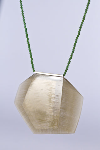 Facet Necklace Taupe