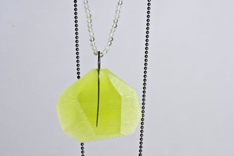Facet Pendant Lime