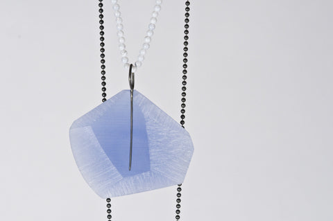 Facet Pendant Mid Blue